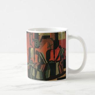Negocio del art déco del vintage, trabajadores de taza