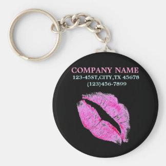 negocio del artista de maquillaje del beso de las  llavero redondo tipo pin