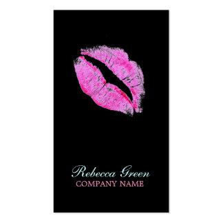 negocio del artista de maquillaje del beso de las  plantillas de tarjetas de visita