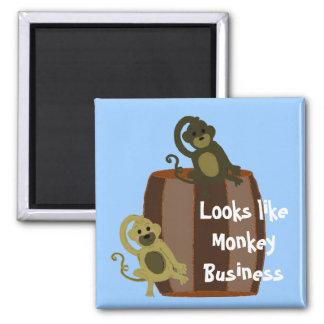 Negocio del barril del mono imán cuadrado