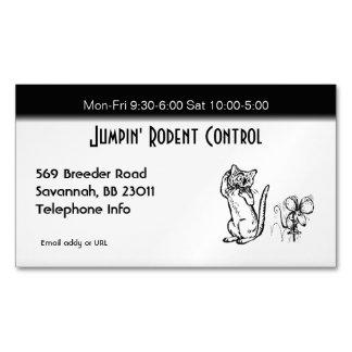 Negocio del control del roedor y de parásito tarjetas de visita magnéticas (paquete de 25)