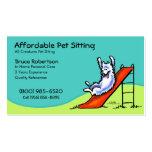 Negocio del cuidado de canícula del canguro del ma plantilla de tarjeta de visita