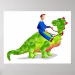 Negocio del dinosaurio poster
