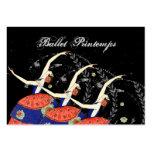 Negocio del diseño de la bailarina de Printemps de Tarjeta De Visita