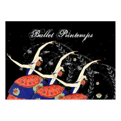 Negocio del diseño de la bailarina de Printemps de Tarjetas De Visita Grandes