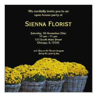 Negocio del florista de la casa abierta comunicados