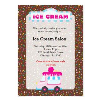 """Negocio del helado invitación 5"""" x 7"""""""