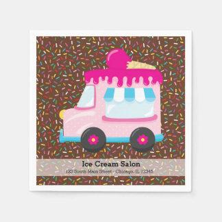 Negocio del helado servilletas desechables