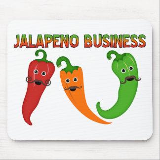 Negocio del Jalapeno Alfombrillas De Ratón