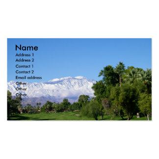 Negocio del Mountain View de Palm Desert Tarjetas De Visita