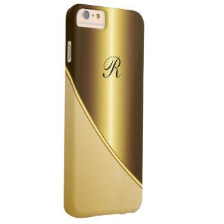 Negocio del oro de los hombres funda de iPhone 6 plus barely there