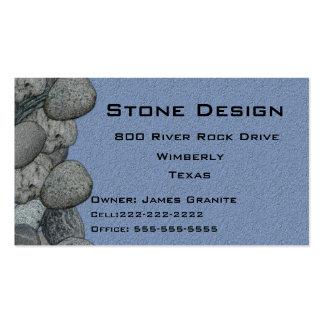 Negocio del paisaje del albañil de piedra plantilla de tarjeta de negocio