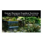 Negocio del paisajista del agua del jardín de roca tarjetas de visita