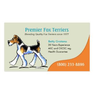 Negocio del perrito del criador de perros del fox tarjetas de visita
