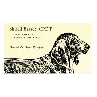 Negocio del perro de Basset Hound Tarjetas Personales