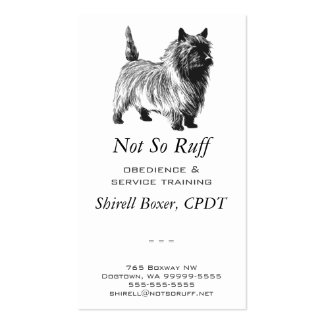 Negocio del perro de Terrier de mojón Plantilla De Tarjeta De Visita
