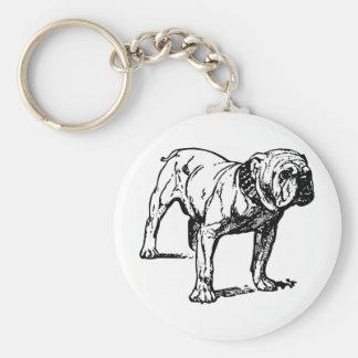 Negocio del perro del dogo llavero redondo tipo pin