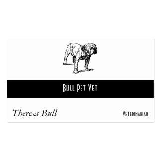 Negocio del perro del dogo tarjetas de visita