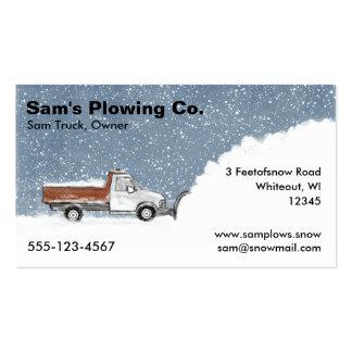 Negocio del quitanieves - arado de la camioneta pi tarjetas de visita