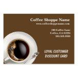 Negocio del Shoppe del café y tarjetas de sacador Plantillas De Tarjetas De Visita