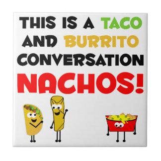 Negocio del Taco y del Burrito Azulejo Cuadrado Pequeño