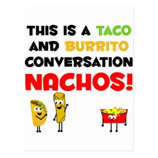 Negocio del Taco y del Burrito Tarjeta Postal