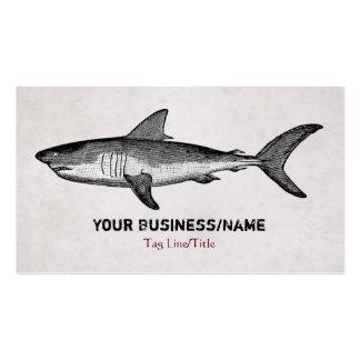 Negocio del tiburón del vintage o tarjeta de tarjetas de visita