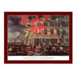 Negocio del vintage, bomberos de los bomberos del  tarjetas postales