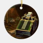 Negocio del vintage, contable, máquina contable adorno de reyes