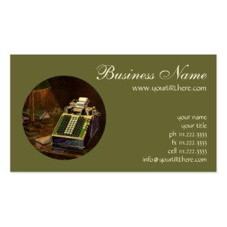Negocio del vintage, contable, máquina contable tarjetas de visita