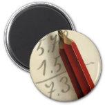 Negocio del vintage, ecuación de la matemáticas imán redondo 5 cm