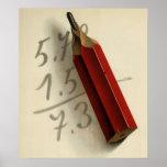 Negocio del vintage, ecuación de la matemáticas póster