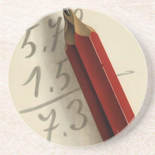 Negocio del vintage, ecuación de la matemáticas posavasos diseño