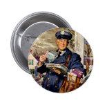 Negocio del vintage, entrega del cartero del carte pin