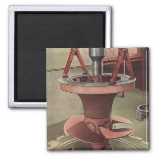 Negocio del vintage, generador con la turbina imán cuadrado