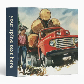 Negocio del vintage, leñadores con el camión de