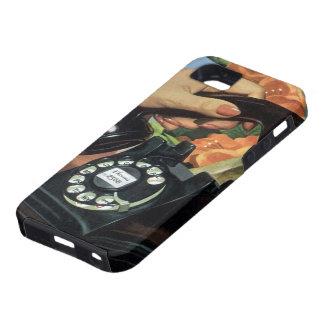 Negocio del vintage, mano de la mujer del teléfono iPhone 5 Case-Mate cobertura