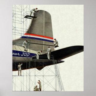 Negocio del vintage, mantenimiento del aeroplano impresiones