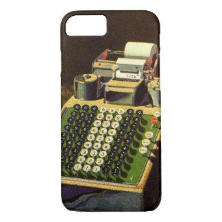 Negocio del vintage, máquina contable del contable funda iPhone 7