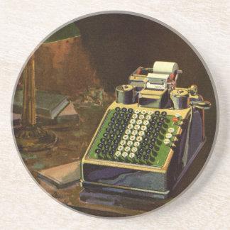 Negocio del vintage, máquina contable del contable posavasos de arenisca