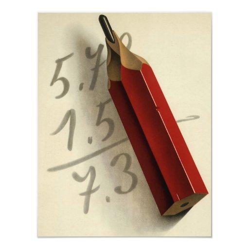 Negocio del vintage, números de la adición de la invitaciones personalizada