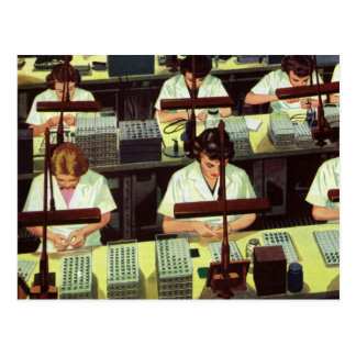 Negocio del vintage, planta de fabricación del tarjeta postal