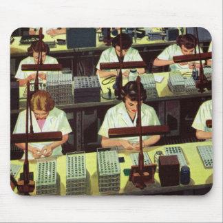 Negocio del vintage, planta de fabricación del tel tapetes de ratón