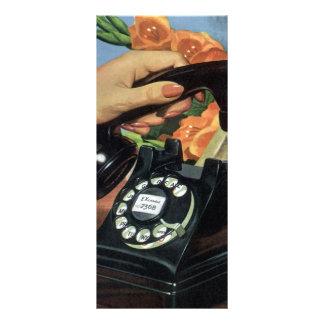 Negocio del vintage, teléfono antiguo del dial lonas personalizadas