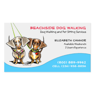 Negocio el Caribe fresco del mascota del caminante Tarjetas De Visita