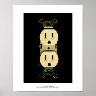 Negocio eléctrico de los electricistas del mercado poster