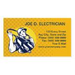 negocio eléctrico del trabajador del instalador de tarjetas de visita