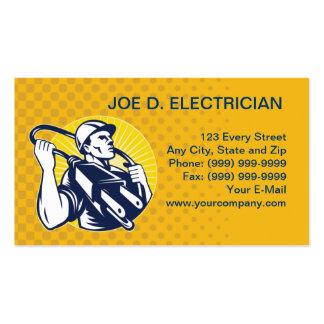 negocio eléctrico del trabajador del instalador de plantilla de tarjeta de negocio