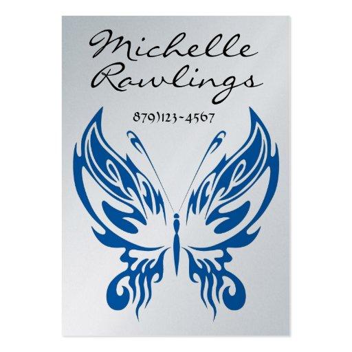 Negocio elegante de la mariposa - tarjeta del perf plantillas de tarjeta de negocio