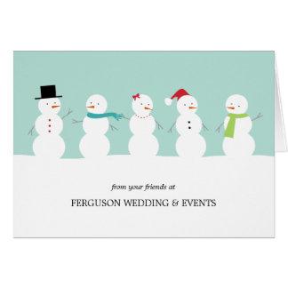 Negocio elegante de los muñecos de nieve/tarjeta c